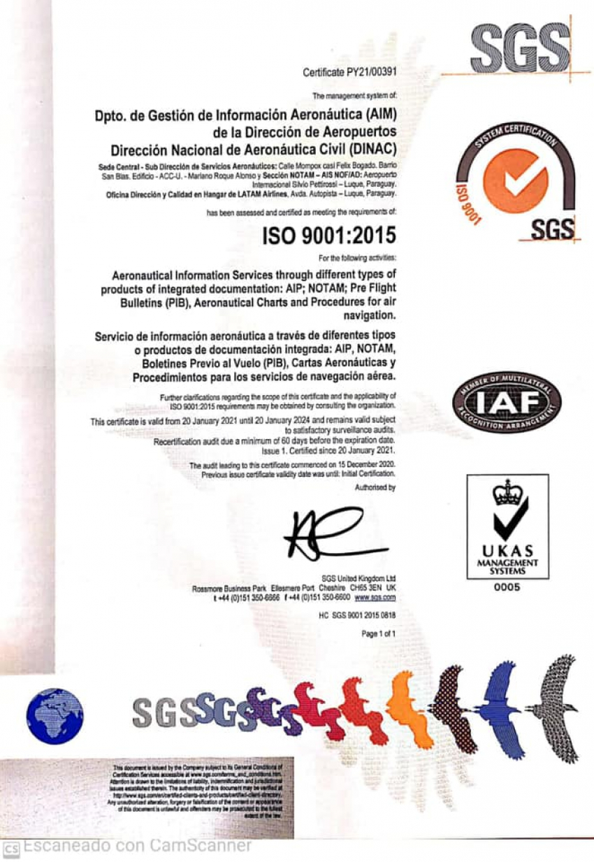 CERTIFICACIÓN ISO 9001 - AIM